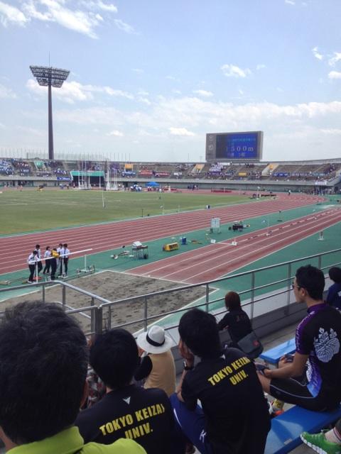 陸上関東インカレ観戦
