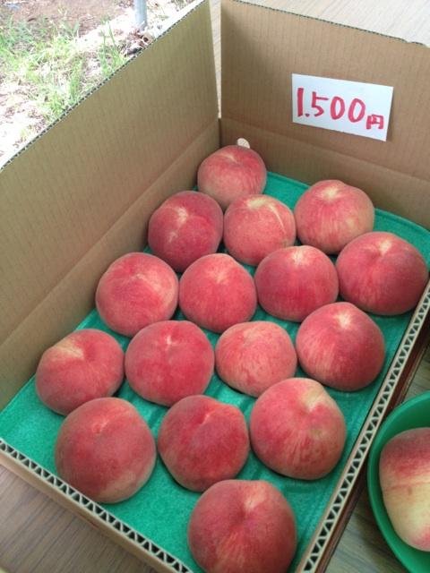 桃を箱買い!