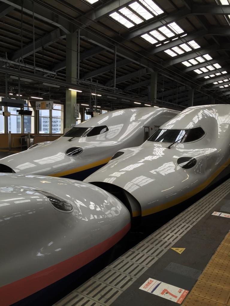 新幹線で新潟へ