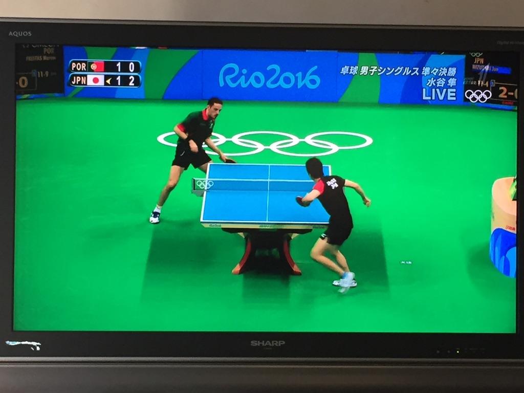 オリンピックのテレビ観戦