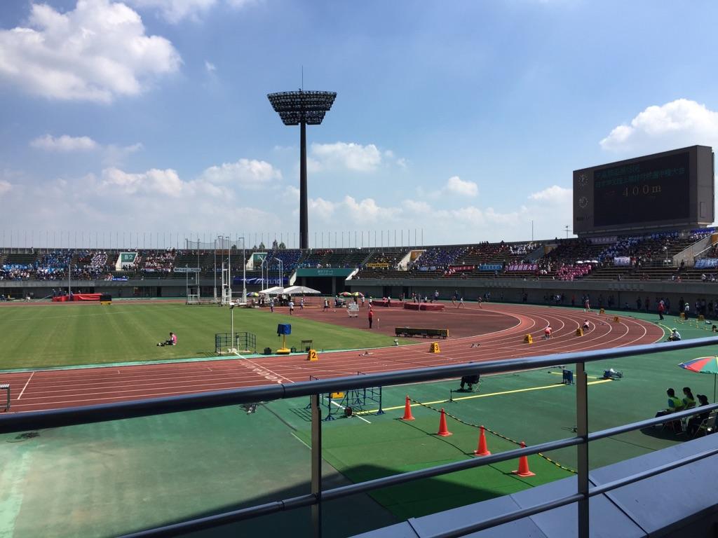 学生陸上競技大会観戦