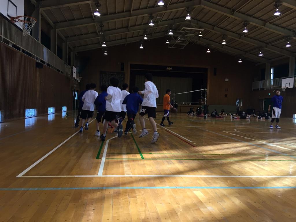 中学バスケ練習再開